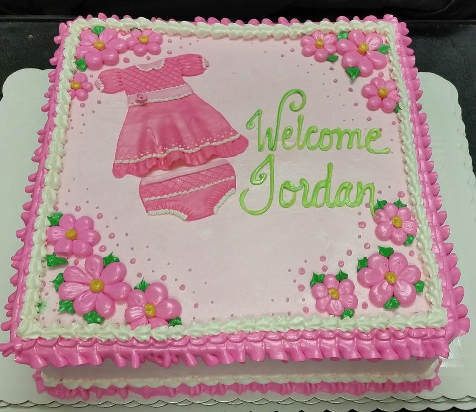 Pink Welcome Cake
