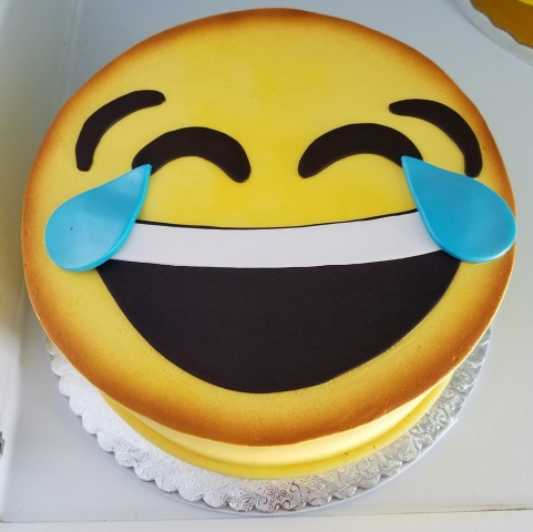 Crying Laugh Emoji Cake