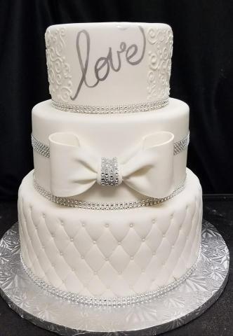 White Bow Cake