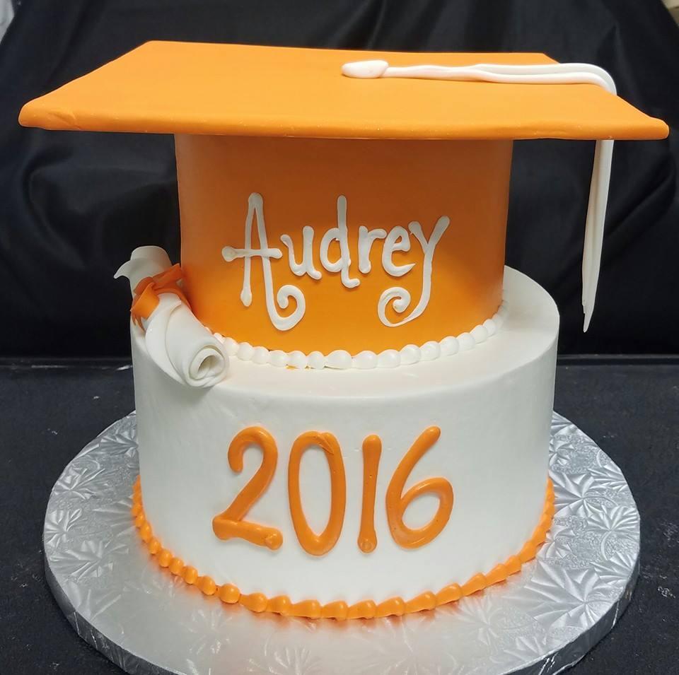 Orange Graduation Cake