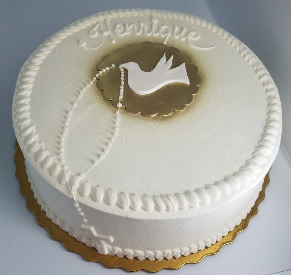Dove and Rosary Cake