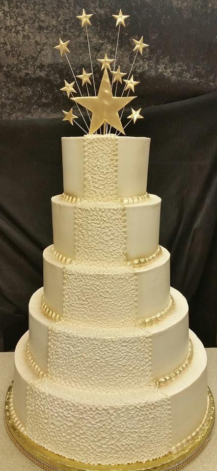 Gold Star Cake