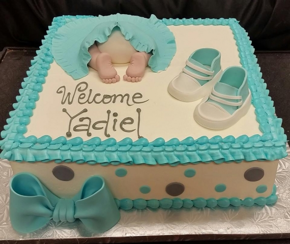 Blue Shoes Boy Cake