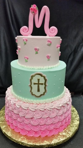 Pink and Green Holy Cake